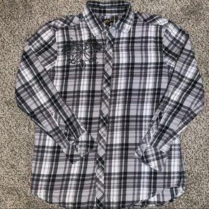 Men's Helix graphic button down shirt